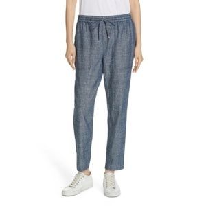 Eileen Fisher Denim Chambray Ankle Pants Size L